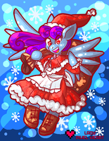 Lyrica Christmas Commission by ladypixelheart