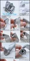 Ribbon Rose Tutorial by VioletLeBeaux