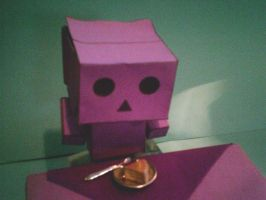 Danbo loves cake by LeRosaVare