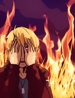 Aph. Burning by fliff