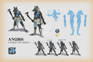 Character Design - Anubis by NobleZene
