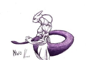 Mewtwo by A2theMuthafukkinK