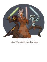 Jedi Girls by khallion