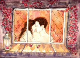 Window Of Roses by LittleSeaSparrow