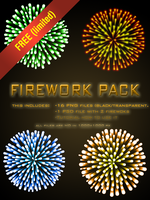 Free Firework Pack (PNG FILES) by ivarman2