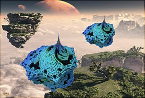 Floating Islands of Cahora by DorianoArt