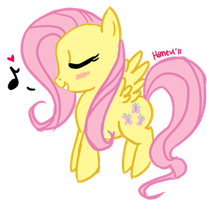 Tiny Fluttershy by xenacee