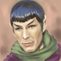 Spock and green scarf by tafafa