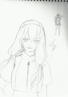 Adult Chiyome sketch by xCaeli