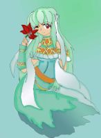 FE7: Ice Rose Dragon by Inoune