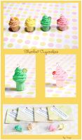 Sherbet Cupcake Charms by Tonya-TJPhotography