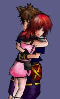 Request 2 - Sora and Kairi by Mirrankei