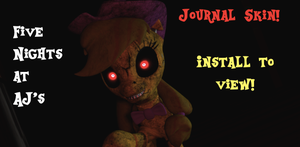 Five Nights at AjJ's 4 Journal Skin by AppleBirdie