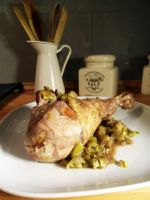 Turkey thighs with leeks by kivrin82