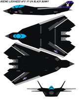 AFX YF-24 Black bunny by bagera3005