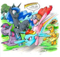 Pinkie Pie Fly By, My Little Pony by andypriceart