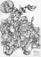 Orks are killing the elf by SkmDron