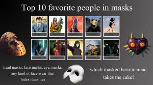 Top 10 Masked Men by V1EWT1FUL