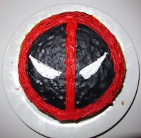 Deadpool Cake by dimebagsdarrell