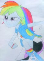 Equestria girls Rainbow Dash 2 by Bass-Senpai