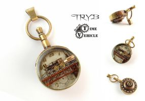 Locomotive pendant (TRYB and Time Vehicle) by TRYBcomPL