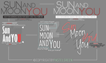 Sun Moon and You LOGO Design by Woodyongie