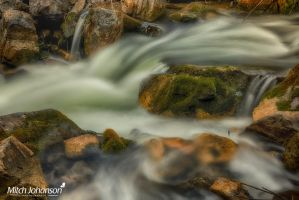 White Water and Mossy Rocks HDR by mjohanson
