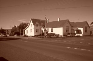 House in sepia by MAKANUT
