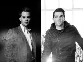 Zachary Quinto Chris Pine by gabiellalili
