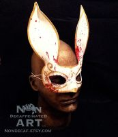 Battle Damaged White Splicer Bunny by nondecaf
