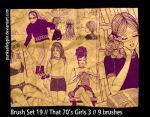 Brush Set 19 - That 70s Girls by punksafetypin