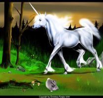 Unicorn in the Wood by chrissi-dinos