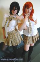 AB '10 Cosplay Rukia y Orihime by BleachcakeCosplay
