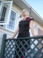 Lady rose at the balcony 02 by gsdark-stock