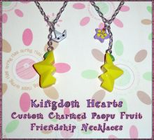 Kingdom Hearts - Friendship Paopu Fruit Charm Set by YellerCrakka