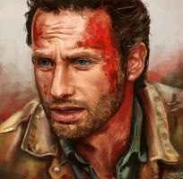 Rick Grimes by astrofawn
