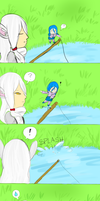 Lotus-Town: Bunny Day- Fishing for Eggs by kitclare