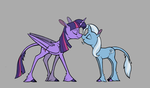 [Commission] Alicorns Are Tall by Enma-Darei