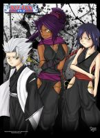 Collab - Yoruichi and friends by black-straycat