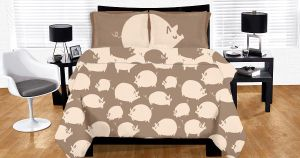 Pigs Duvet by philippajudith