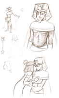 King Tuck sketchdump by MelancholyChamomile