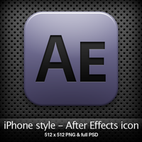 iPhone style - Ae CS4 icon by YaroManzarek