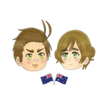 PC| APH: The Kiwi and The Didgeridude~ by KIMKIM14