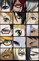 kuroshitsuji (black butler) character eyes by MyRandomThoughts