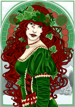Art Nouveau - Fruits of Winter by Sombrewood