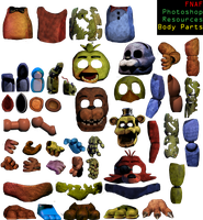 FNAF Photoshop Resources FINAL UPDATE- Body Parts by Dangerdude991