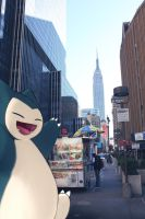 WIld SNorlax in NY by Ninja-Jamal