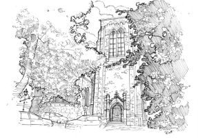Church sketch by jimmybott