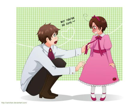 Hetalia: The pink dress by carichan