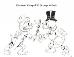 Flintheart Glomgold vs Scrooge by InsaneKane87